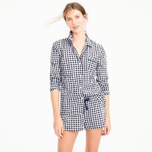 EUC J.Crew Cotton Pajama Set in Gingham